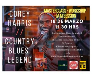 Corey Harris en Madrid (1)