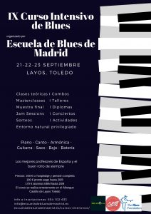 Dark Blue Piano Keys Jazz Poster